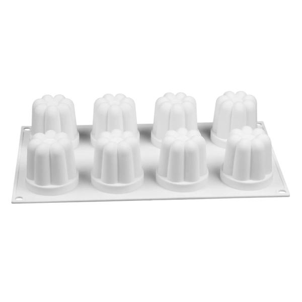 Moule silicone flan (comme Flanby) 8 cavités 5