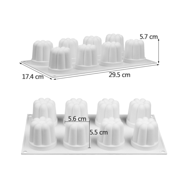 Moule silicone flan (comme Flanby) 8 cavités 1