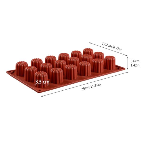 Moule silicone mini-cannelés 18 cavités 1