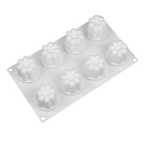 Moule silicone flan (comme Flanby) 8 cavités