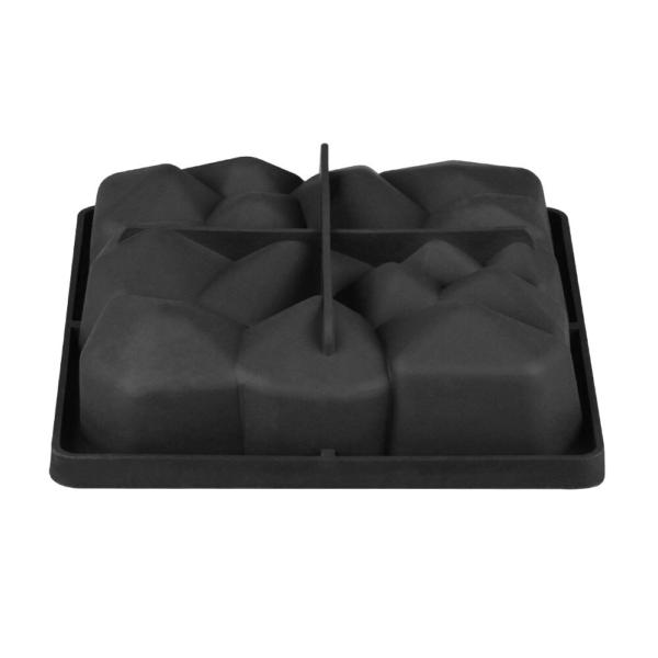 Moule carré en forme de roche, pierre (produit en silicone) 4