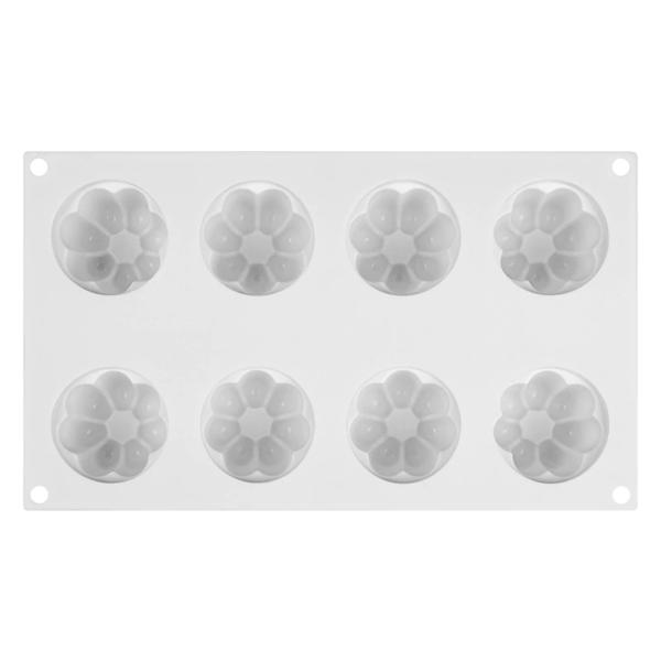 Moule silicone flan (comme Flanby) 8 cavités 3