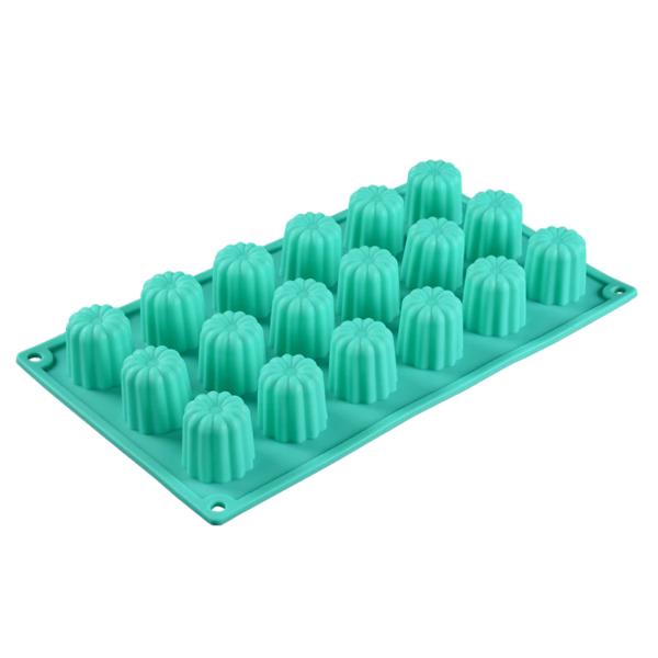Moule silicone mini-cannelés 18 cavités 4