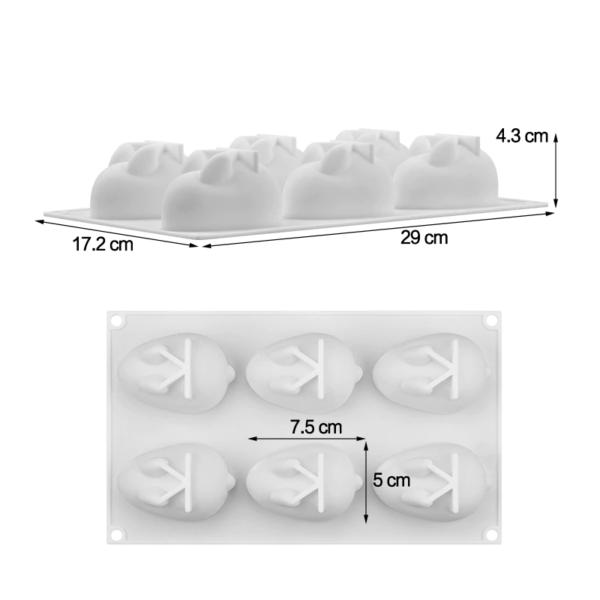 Moule silicone lapins 3D 3