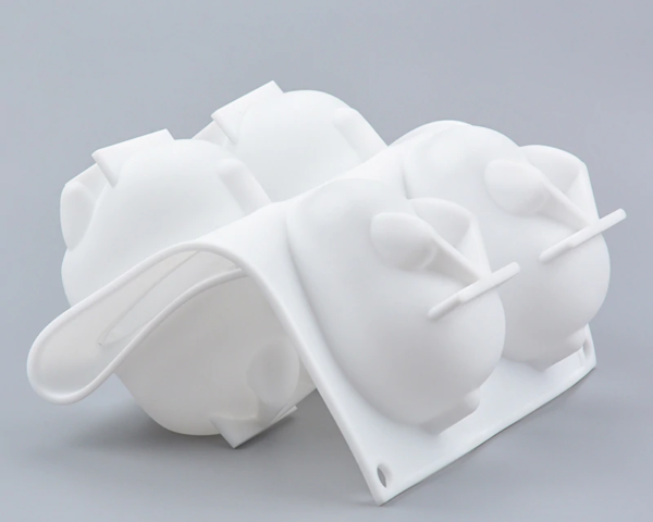 Moule silicone lapins 3D 5