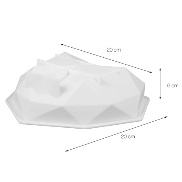 Moule à gâteau en forme de cœur (silicone) 3