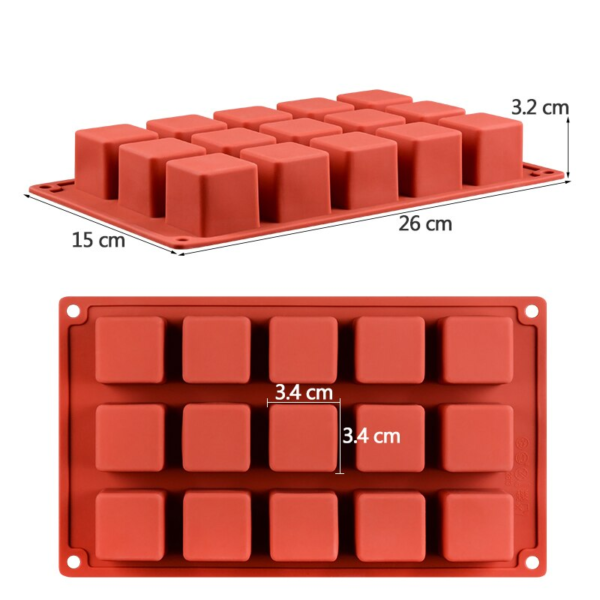 Moule gâteau Rubik's Cube en silicone 1
