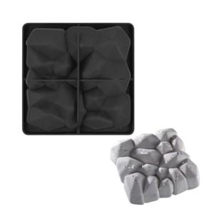 Moule carré en forme de roche, pierre (produit en silicone)
