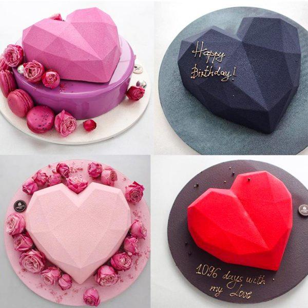 Moule à gâteau en forme de cœur (silicone) 5