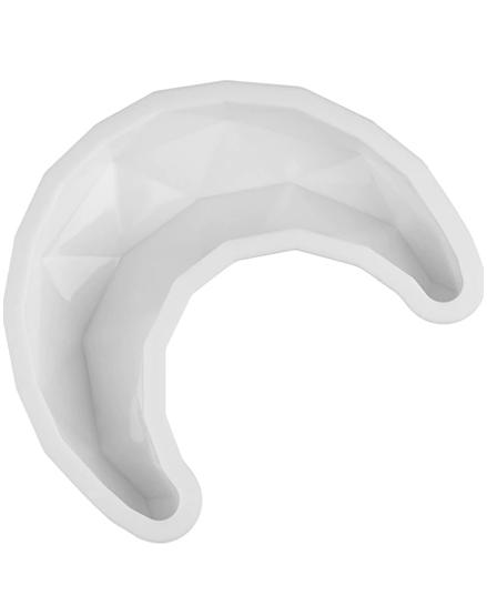 Moule silicone en forme de croissant de lune